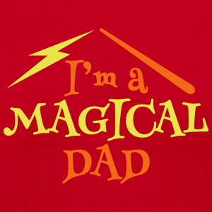 I'm a magical DAD with magic wand T-Shirts - Women's V-Neck T-Shirt