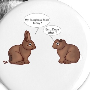 Chocolate Bunnies Buttons - Large Buttons