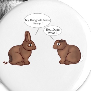 Chocolate Bunnies Buttons - Small Buttons
