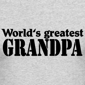 Worlds greatest Grandpa Long Sleeve Shirts - Men's Long Sleeve T-Shirt by Next Level