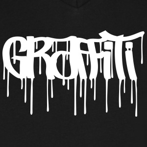 Graffiti Tag (Oldscholl underground style) T-Shirts - Men's V-Neck T-Shirt by Canvas