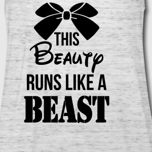 This Beauty Runs Like a Beast Tanks - Women's Flowy Tank Top by Bella
