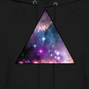 Crowned Threads Galaxy Triangle Hoodie - Men's Hoodie