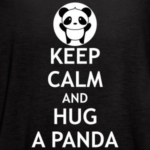 Keep Calm and Hug a Panda - Women's Flowy Tank Top by Bella