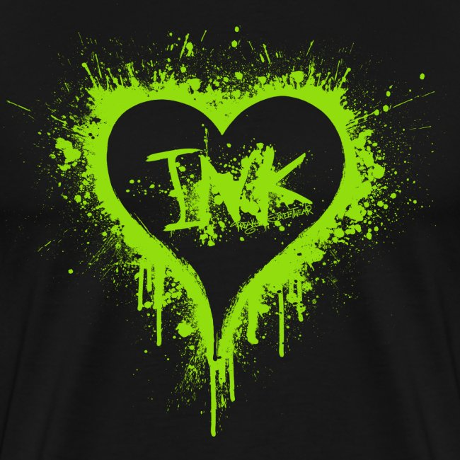 I Love Ink green