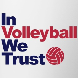 In Volleyball we trust Bottles & Mugs - Contrast Coffee Mug