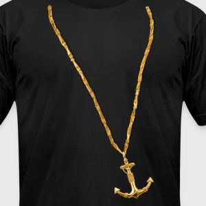 Gold Chain and Anchor - Men's T-Shirt by American Apparel