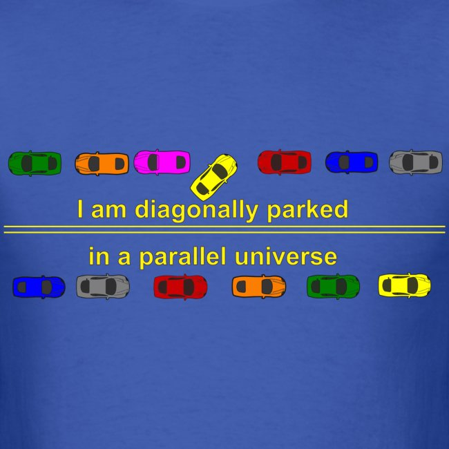 diagonally parked