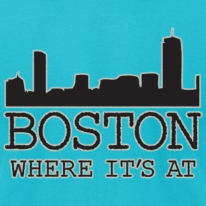 Boston Where It's At Apparel T-shirts T-Shirts - Men's T-Shirt by American Apparel