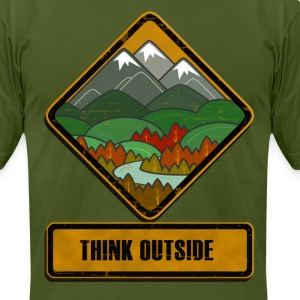 Think Outside T-Shirts - Men's T-Shirt by American Apparel