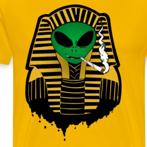 Alien Pharaoh  T-Shirts - Men's Premium T-Shirt