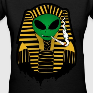 Alien Pharaoh  Women's T-Shirts - Women's V-Neck T-Shirt