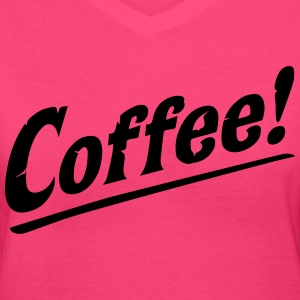 Coffee! Love Java Cool Retro Vintage Coffee Women's T-Shirts - Women's V-Neck T-Shirt