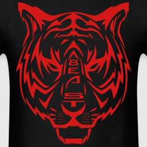 Bengal BEAST: Stealth Mode (red) - Men's T-Shirt