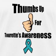 Design ~ Thumbs Up for Tourette's Awareness! Womens T-Shirt