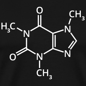 Coffee chemical formula chemistry espresso drink T-Shirts - Men's Premium T-Shirt