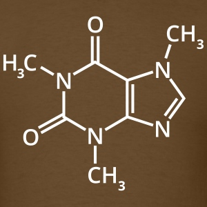 Coffee chemical formula chemistry espresso drink T-Shirts - Men's T-Shirt