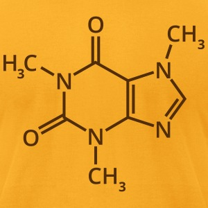 Coffee chemical formula chemistry espresso drink T-Shirts - Men's T-Shirt by American Apparel