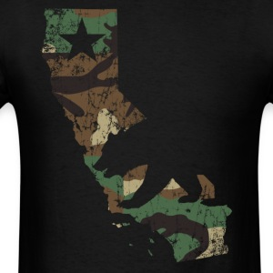 Camo California State Bear Flag T-Shirts - Men's T-Shirt