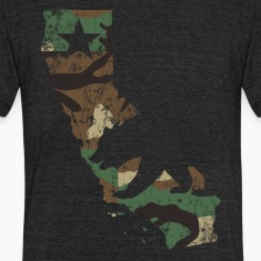 Camo California State Bear Flag T-Shirts