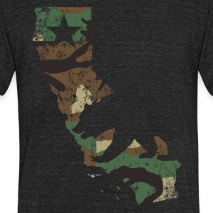 Camo California State Bear Flag T-Shirts - Unisex Tri-Blend T-Shirt by American Apparel