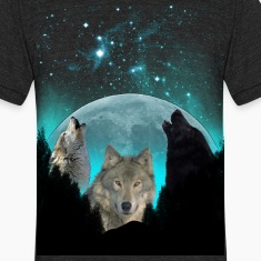 Wolves Twilight Harvest Moon  T-Shirts