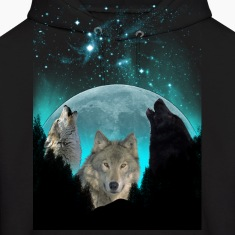 Wolves Twilight Harvest Moon  Hoodies