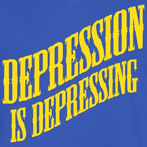 Depression Is Depressing Parody Joke Tee T-Shirts - Men's V-Neck T-Shirt by Canvas