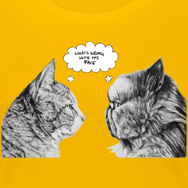 Cat Confusion Fitted Tee
