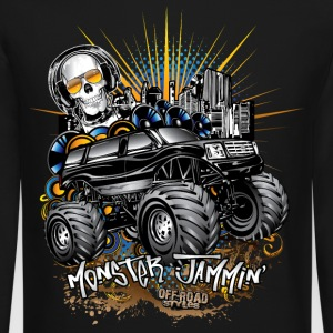 Monster Cadillac SUV Long Sleeve Shirts - Crewneck Sweatshirt