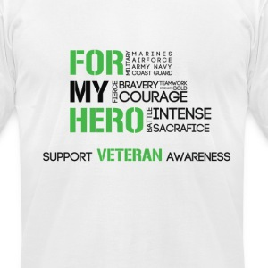 Men's Veteran Awareness - Men's T-Shirt by American Apparel