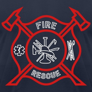 Fire Rescue T-Shirts - Men's T-Shirt by American Apparel