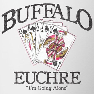 Buffalo Euchre Apparel Clothing Shirts Bottles & Mugs - Contrast Coffee Mug