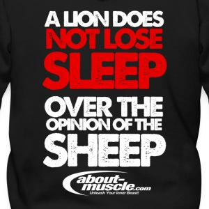 A Lion Does Not Lose Sleep Over The Opinion Zip Hoodies & Jackets - Men's Zip Hoodie