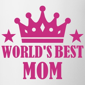 World's Best Mom Bottles & Mugs - Contrast Coffee Mug