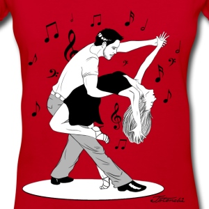passionate dancers - Women's V-Neck T-Shirt