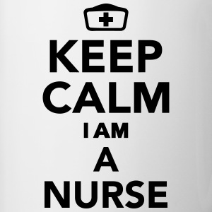 Keep calm I'm a Nurse Bottles & Mugs - Contrast Coffee Mug