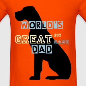 Black sitting Great Dane T-Shirts - Men's T-Shirt