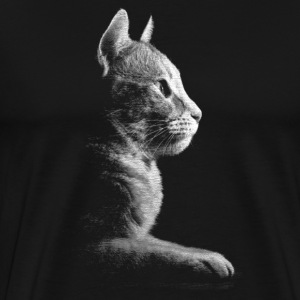 Kitty Silhouette Men's - Men's Premium T-Shirt
