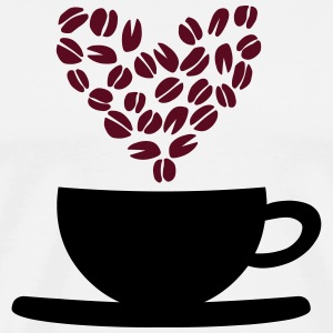 Coffee Cup and Beans T-Shirts - Men's Premium T-Shirt