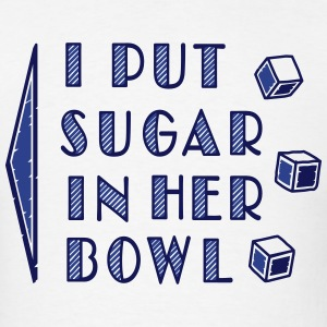 sugar in bowl - for men T-shirts - T-shirt pour hommes