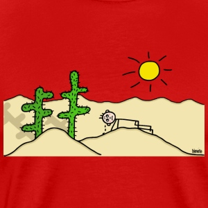 Man in the desert T-Shirts - Men's Premium T-Shirt