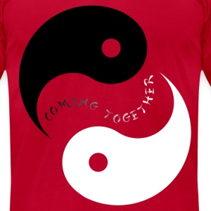 Yin Yang Coming together - Men's T-Shirt by American Apparel