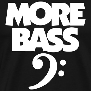 MORE BASS T-Shirt (Men's black) - Men's Premium T-Shirt