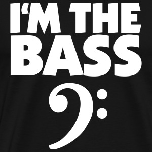 I'm the Bass T-Shirt (black) Clef - Men's Premium T-Shirt