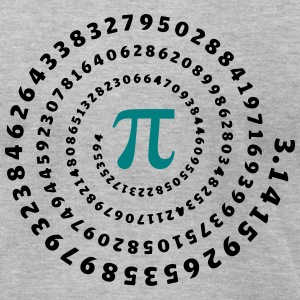 Maths, Pi, π, Mathematics Spiral Irrational Number T-shirts - T-shirt pour hommes American Apparel
