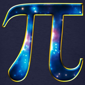 Pi π Symbol Math Mathematics Universe Galaxy Space T-Shirts - Men's T-Shirt