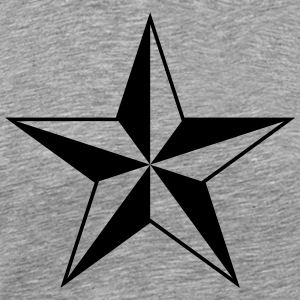 Nautical star protection guidance good luck symbol T-Shirts - Men's Premium T-Shirt
