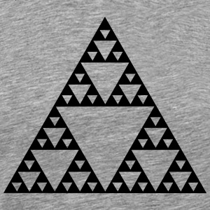 Sierpinski Fractal Triangles Geometry Mathematics  T-Shirts - Men's Premium T-Shirt