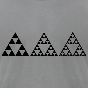 Sierpinski Fractals Triangles Geometry Mathematics T-Shirts - Men's T-Shirt by American Apparel